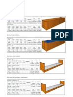 Standard Shipping Containers