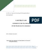 Sri Nisargadatta Maharaj - I Am That I Am - Part 1 Transcript