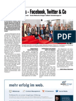 Zeitungsartikel zum Social Media Seminar