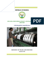 Rwanda Industrial Policy and Master Plan