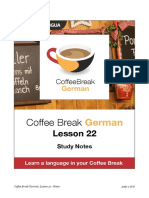 Coffee Break German. Lesson 22. Study Notes