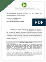 Defesa preliminar prescrição virtual inepcia da denúncia Cristiano Santos.doc