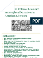 Puritan Lit and Philosophical Narratives