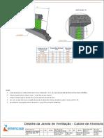 Detalhe Janela de Ventilação - Cabine de Alvenaria