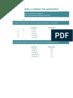 Aprendiendo a utilizar los paréntesis en Excel