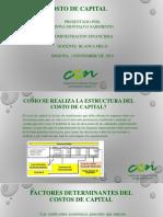 ADMINISTRACION FINANCIERA -YINIVA MONTALVO- COSTO DEL CAPITAL