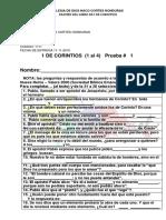 ESCUELA BÍBLICA EXAMEN DEL LIBRO DEL I CORINTIOS QUINTO NIVEL