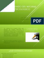 CONTENIDO DEL INFORME PSICOLOGICO
