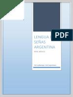 pdf LENGUA DE SEÑAS ARGENTINA . NIVEL BASICO