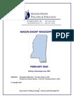 Mason Dixon March 2020 Poll