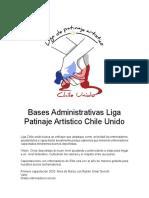 Bases Administrativas Liga  Patinaje ArtÃ_stico Chile Unido