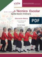 CTE 5a Sesion GuadeTrabajo EducacionBasica