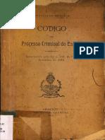 codigo do processo criminal do estado do Sergipe - 1918