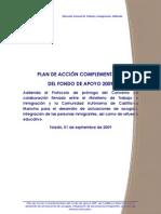 Plan de Acción 2009 de Castilla-La Mancha para la acogida, la integración y el refuerzo educativo de inmigrantes