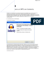 Audacity Modificare Un Mp3