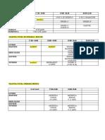 ORARI  PALESTRE STAGIONE 2010-2011