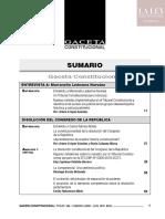 Sumario Gaceta Constitucional N° 146
