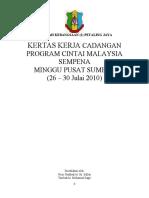 Kertas Kerja Program Cintai Malaysia