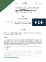 L'IMPACT DU FINANCEMENT PAR LA DETTE EXTERIEURE PUBLIQUE SUR LA CROISSANCE ECONOMIQUE MAROCAINE_2018