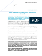 Segundo caso de coronavirus en la Argentina