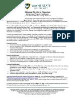 WNayne State U - Position - BBE ESL Lecturer Coordinator Post (2020 Fall Start Final)