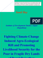 Fighting climate-change induced agro-ecological rift and promoting livelihood security for the poor in fragile drylands of rural Rajasthan - presentation