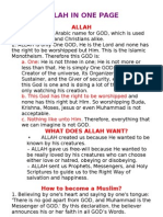 Allah in One Page