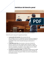 Características del derecho penal