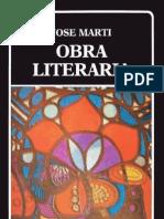 Martí, José. Obra literaria