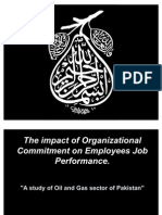 --The Impact of Organizational Commitment on Employees Job