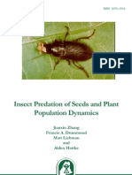 Insect Predation of Seeds and Plant Populations Dynamics