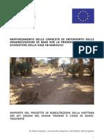 report del progetto di riabilitazione della khettara Ain Ait Oiazan nel duar Tiggane, oasi di Addistigsmerte