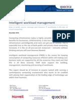 Intelligent workload management