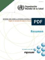 Informe OMS sobre la epidemia mundial del tabaquismo 2017 - OMS (resumen en español)