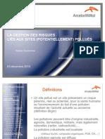 GE - MODULE DECHET - gestion des sites pollués