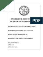 11014 Programa Investigación Educacional I Prof Rosemberg