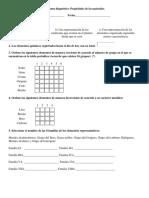 Examen diagnóstico Propiedades de los materiales