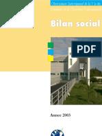 Bilan Social 2003