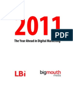 Bigmouthmedia's 2011 digital marketing predictions
