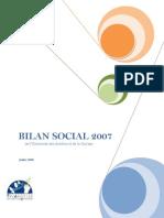 Bilan Social 2007
