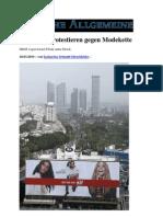 2010 Schweden protestieren gegen Modekette H&M