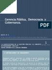 Gerencia Pública,  democracia  y Gobernanza