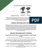 Adaptasi Pada Hewan Dan Tumbuhan (Morfologi