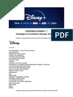 Le catalogue Disney+