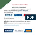 Die Besten Partnerprogramme in Deutschland - Check24