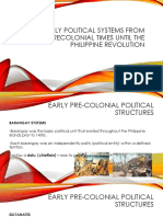 Early political systems from precolonial times until the