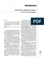DISCURSO PUBLICITÁRIO - NA TEIA DO IDEOLÓGICO