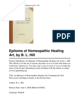 Homoeopathic Art of Healing