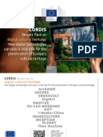 CORDIS Results Pack on Digital Cultural Heritage