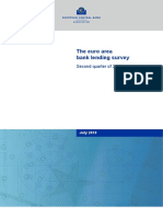 The Euro Area Bank Lending Survey